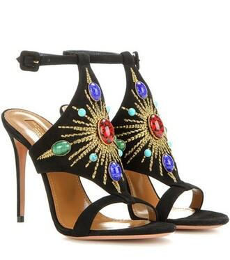 sun embellished sandals suede shoes
