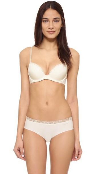Calvin Klein Underwear Seductive Comfort Customized Lift Bra - Ivory