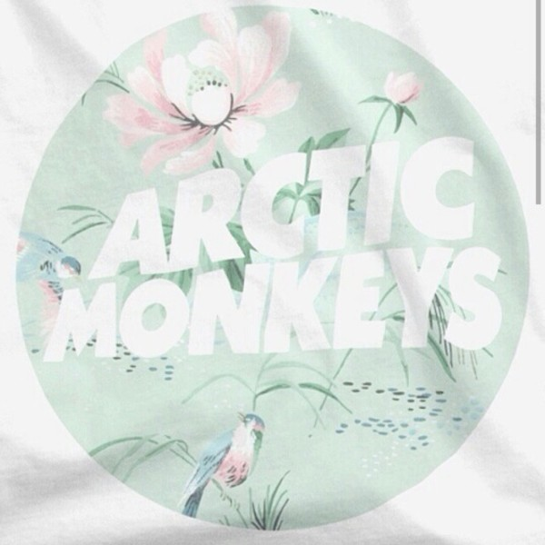 shirt arctic monkeys band t-shirt pastel top t-shirt floral birds birds shirt birds top white top white t-shirt quote on it sea foam green band band merch arctic monkeys birds mint tumblr shirt arctic monkeys merchandise