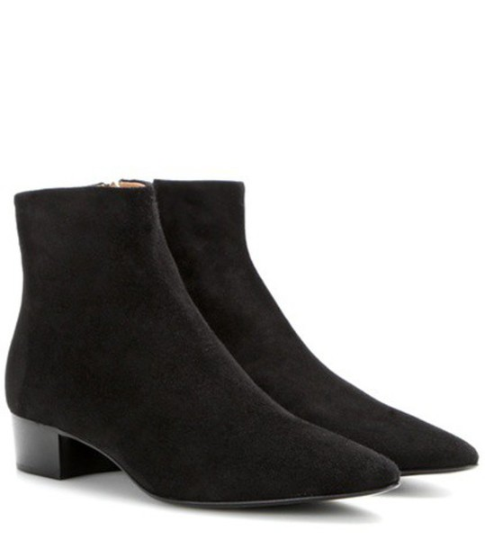The Row Ambra Suede Boots in black