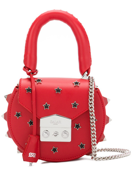 Salar mini women bag tote bag leather red