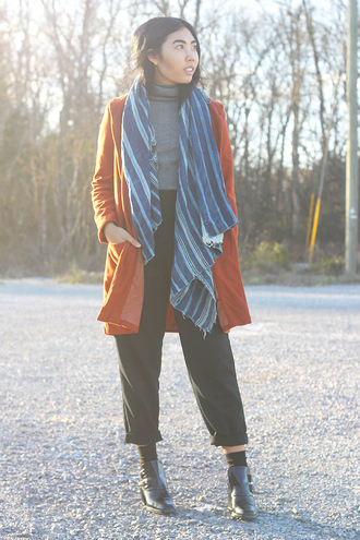 fashion of a novice blogger pants coat scarf shoes