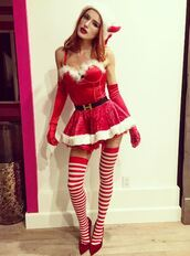 dress,tights,costume,halloween costume,bella thorne,instagram