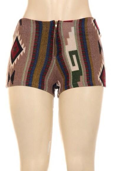 tribal pattern shorts sexy fashion fall outfits