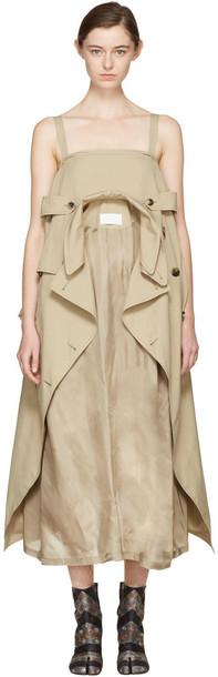 dress oversized beige