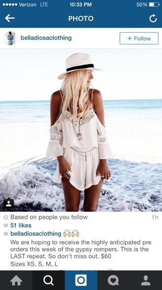 shirt cute romper white summer lace beach dress white romper off the shoulder short flowy romper stylish