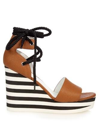 sandals wedge sandals tan shoes
