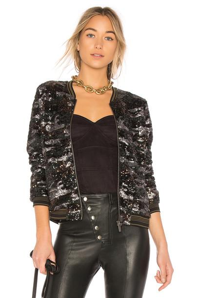 Sanctuary jacket sequin jacket black