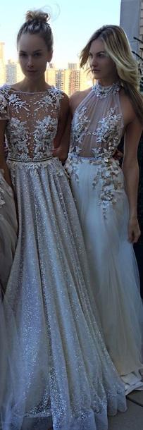 dress white dress gold white prom dress prom gown gold dress