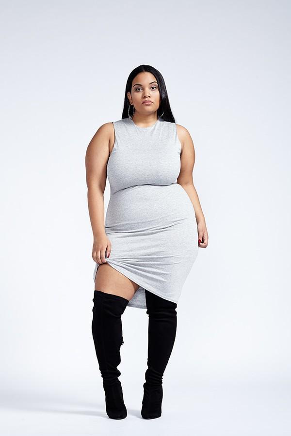 Dress: plus dress, plus dresses, gray plus dress, gray bodycon ...