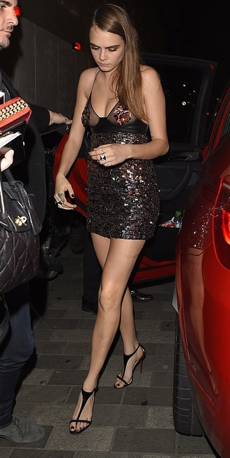 sequins party outfits party dress sequin dress sparkly sheer cara delevingne short dress