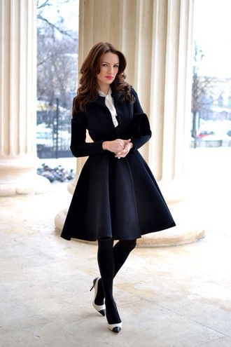 jacket black coat black jacket swing coat female by mirela fraser winter outfits