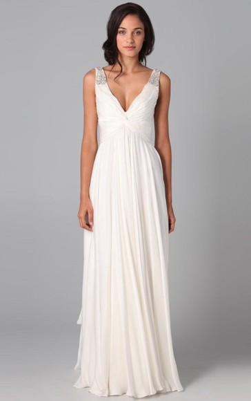 classy white white dress