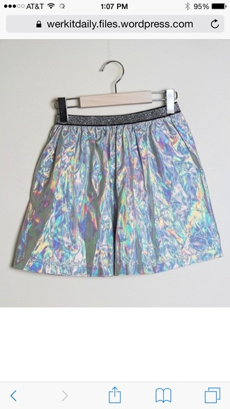 skirt holographic kawaii kawaii grunge fashion fairy kei fairy tale