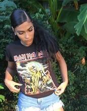 t-shirt,iron maiden