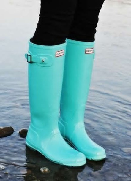 shoes hunter aqua rain boots knee lenght wellies hunter boots