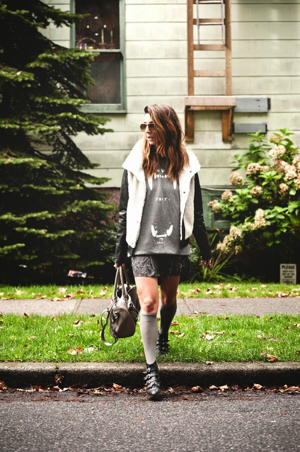 to bruck ave blogger jacket socks bag black boots