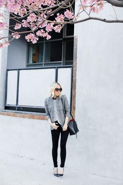 damsel in dior blogger skinny jeans bag jacket t-shirt jeans shoes