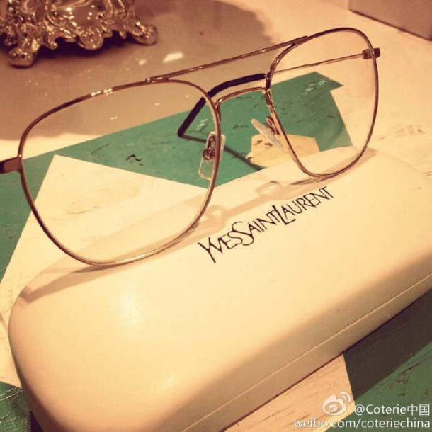 socks saintlaurent glasses  metal   nerd