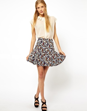 ASOS | ASOS Mini Skirt in Floral Print at ASOS