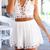 Backless Halter Top & Shorts|Disheefashion