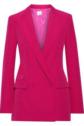 Iris & Ink Woman Luca Double-breasted Cady Blazer Fuchsia Size 10