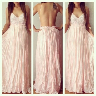 prom tumblr girl prom dress pink 2014 full length forever hill model heart ball sparkle sequins tumblr outfit maxi dress maxi chiffon dress chiffon dress nude dress pink dress maxi prom. dress flower maxi dress rawbeauty. long prom dress no back dress flows dress lace top baby pink
