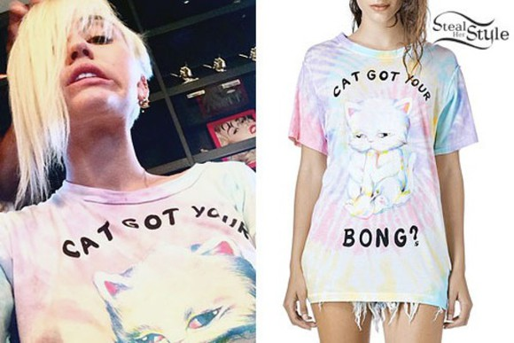 miley cyrus t-shirt cats