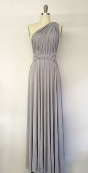 dress,sleeveless homecoming dresses,aline homecoming dresses,one shoulder homecoming dresses,floor length homecoming dresses,ruching homecoming dresses,grey homecoming dresses