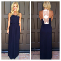 Marks the Spot Maxi Dress - NAVY                           | Dainty Hooligan Boutique