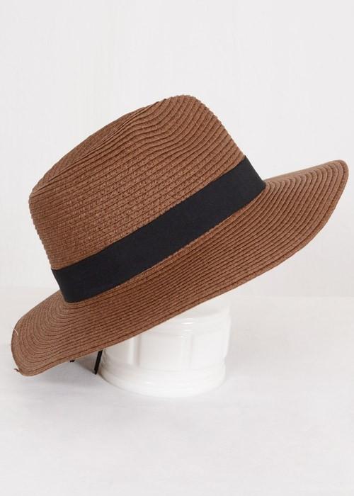 Brown straw panama hat