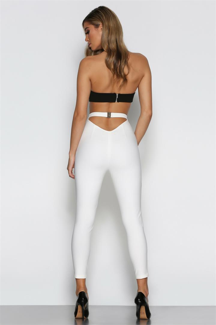 Bad AF Fashion Marchesa Pants in White