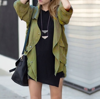 jacket olive green bag army green military