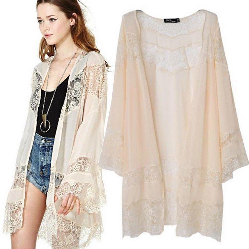 Eyelash lace white kimono · fashion struck · online store powered by storenvy