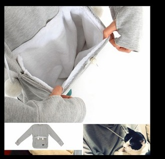 jacket jumper catpouch