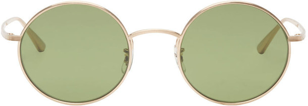 Oliver Peoples The Row sunglasses gold