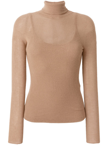Max Mara jumper turtleneck women nude sweater