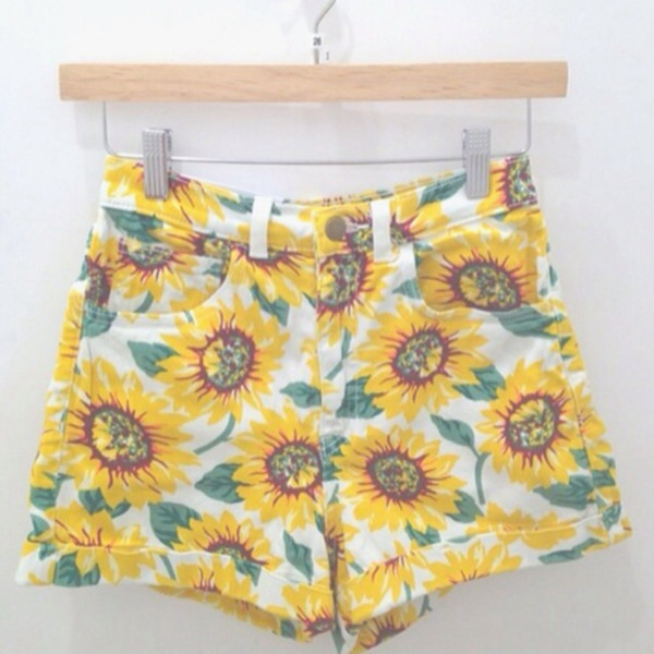 shorts summer daisy flowered shorts flowers