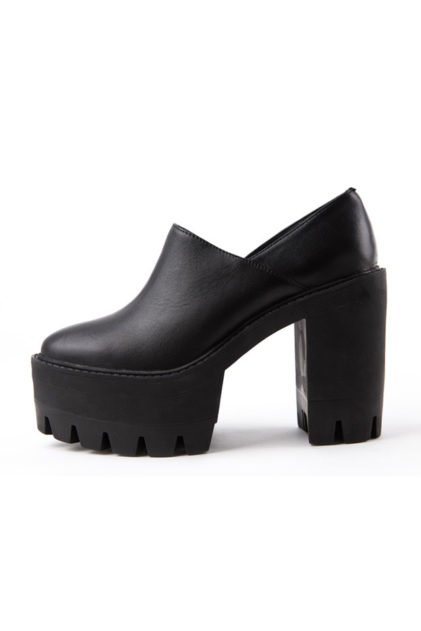 Stylish Black Tough Soldier Platforms [FABI1714] - PersunMall.com