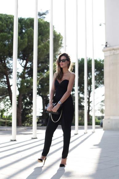 shoes lady addict blogger jumpsuit bag