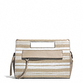bleecker pocket clutch in embossed woven leather