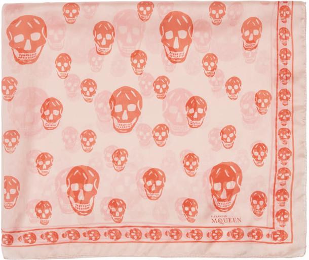 skull scarf pink orange