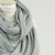 Light Grey Infinity Scarf Heather Gray Ribbed Sweater Knit Long Wide Knit Jersey Women Fashion