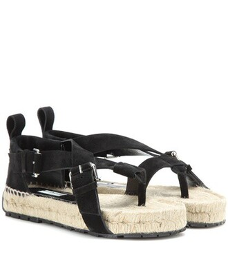 style sandals suede black shoes