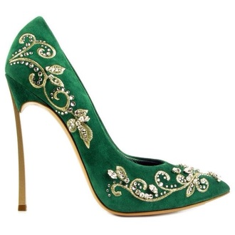 shoes high heels medium heels green embroidered gold classy classic green shoes