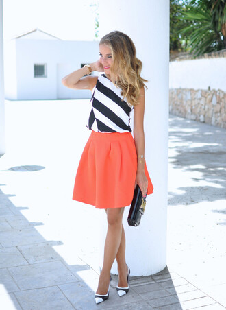 te cuento mis trucos blogger top skirt shoes bag