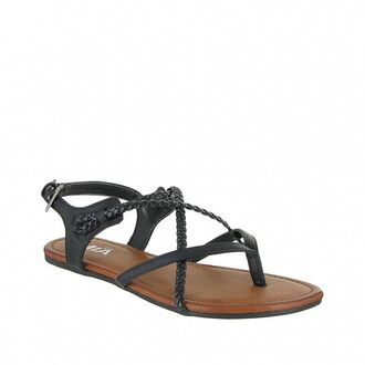 shoes black braided mia shoes sandals bikiniluxe