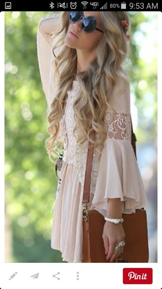 dress lace boho long sleeve dress boho dress