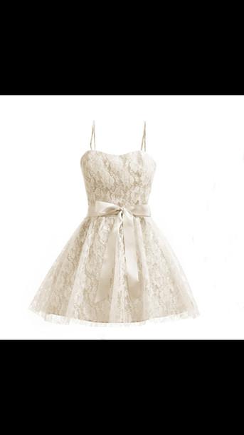 dress white white dress lace dress lace loop cute cute dress