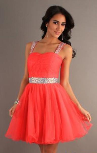 dress rhinestones pink dress top orangle pink little sparkles